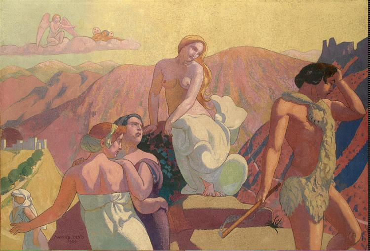 Panel 6. Psyche's Kin Bid Her Farewell on a Mountain Top, 1908 - Maurice Denis