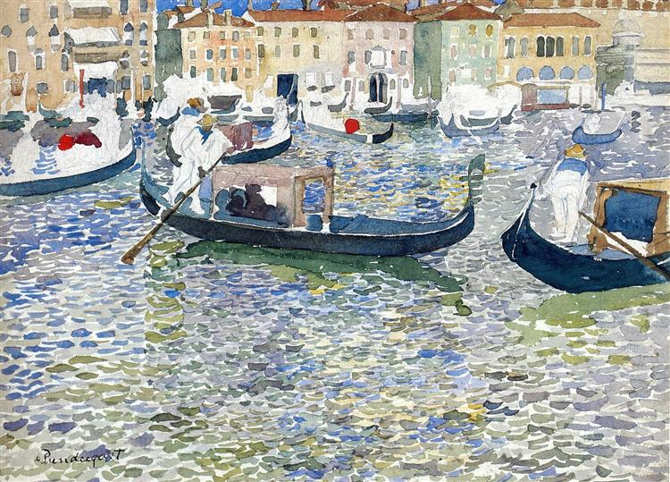 Grand Canal, Venice, c.1898 - c.1899 - Морис Прендергаст