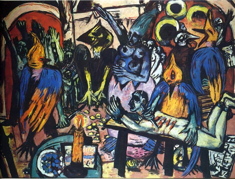 Bird's hell, 1938 - Max Beckmann