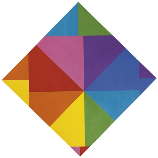 Acht farben im horizontal-diagonal-quadtrat, 1965 - Max Bill