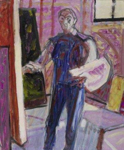 Selbstbildnis, Ganzfigur, 1949 - Max Gubler
