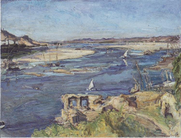 The Nile at Aswan, 1914 - Max Slevogt