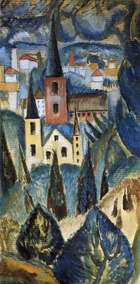 Landscape With Church Spires And Trees 1911 Max Weber