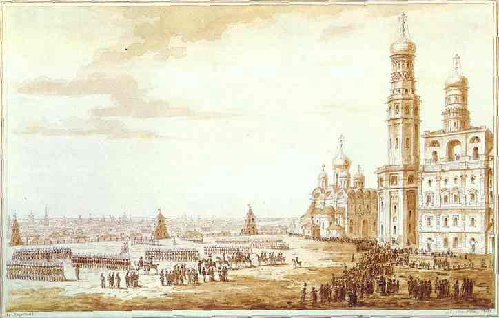 View of Sobornaya Square in the Moscow Kremlin, 1817 - Maxim Vorobiev