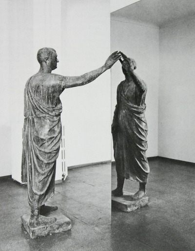 Etruscan Holding Up A Mirror, 1976 - Michelangelo Pistoletto