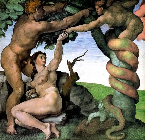 Adam and Eve - Michelangelo