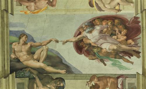 Sistine Chapel Ceiling: Creation of Adam - Michelangelo