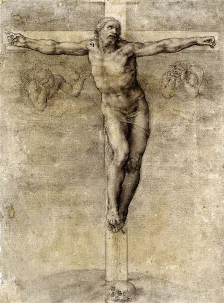 Study to Crucifixion, 1541 - Michelangelo
