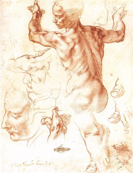 Study to The Libyan Sibyl, c.1508 - Michelangelo