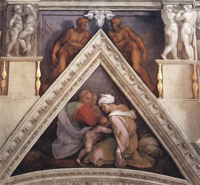 The Ancestors of Christ: Ozias, 1509 - Michelangelo