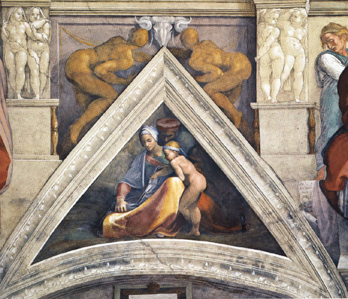 The Ancestors of Christ: Salmon, 1509 - Michelangelo