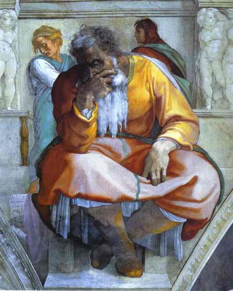 The Prophet Jeremiah, 1512 - Miguel Ángel
