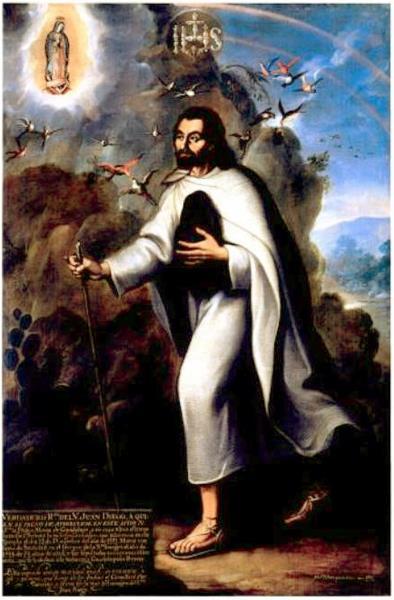 Fiel retrato do venerável Juan Diego, 1752 - Miguel Cabrera