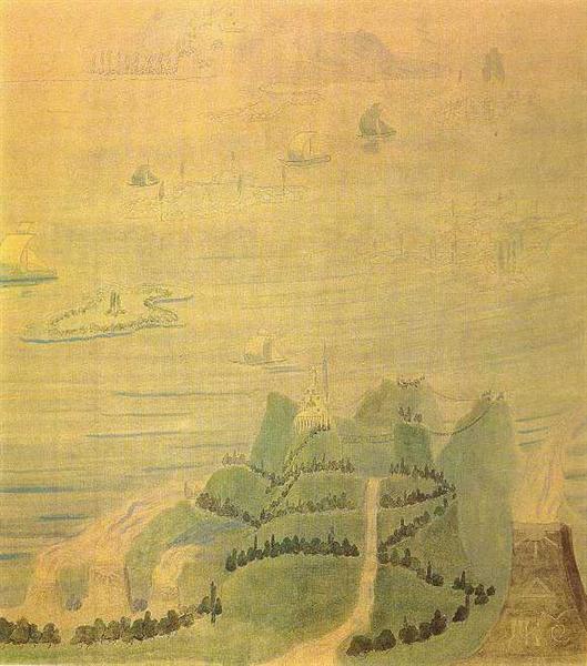 Allegro (Sonata of the Sumer), 1908 - Mikalojus Konstantinas Ciurlionis