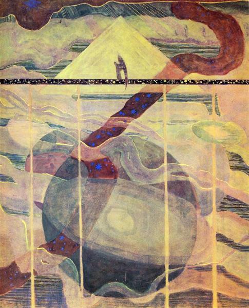 Анданте (Соната звезд), 1908 - Микалоюс Чюрлёнис