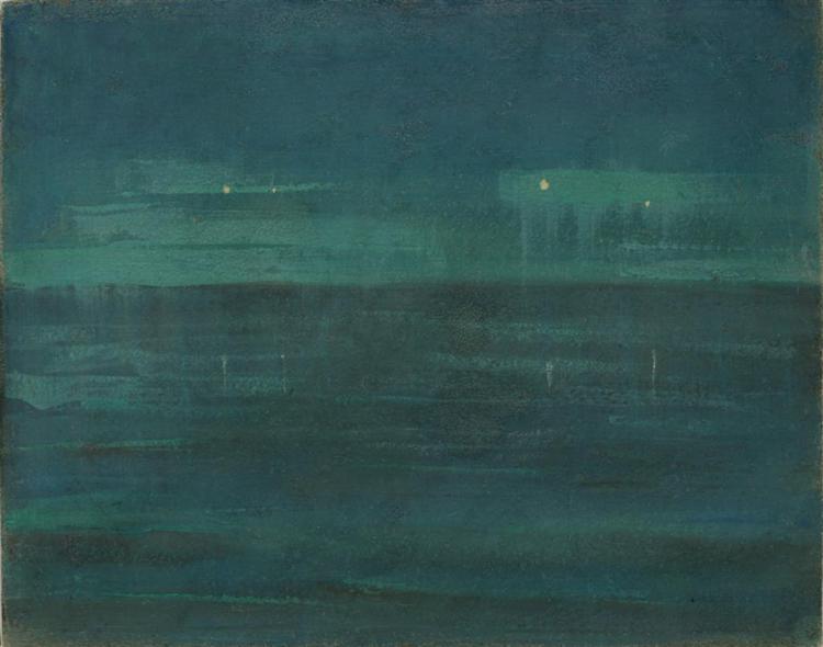 Sea at night, 1906 - Mikalojus Konstantinas Ciurlionis