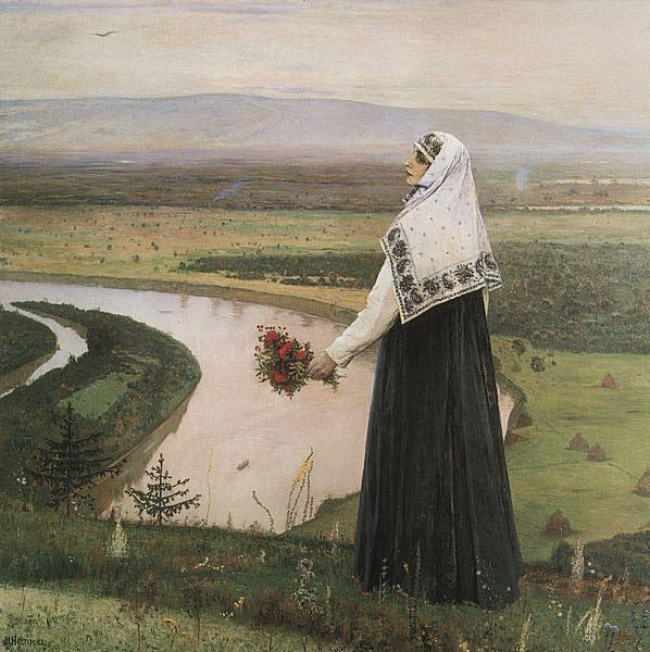 On the mountains, 1896 - Mikhail Nesterov