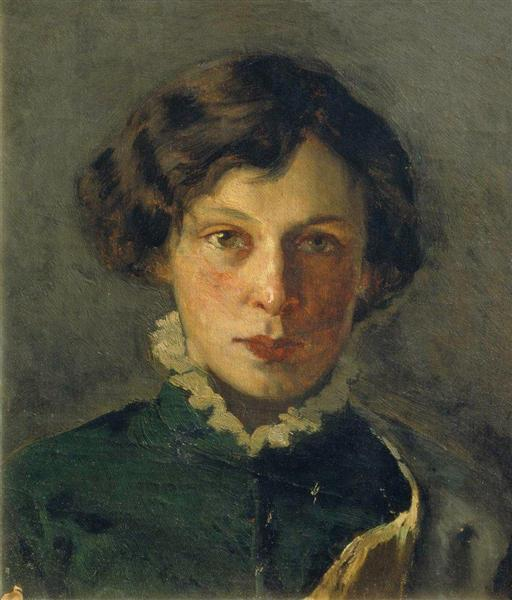 Portrait of M. Nesterova, the first wife of the artist, 1886 - Mikhail Nesterov