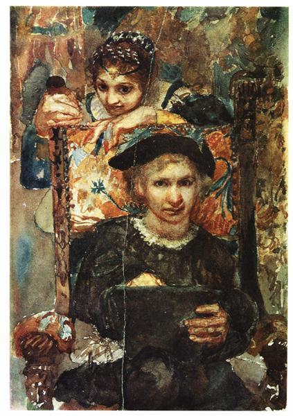 Hamlet and Ophelia, 1883 - Mikhail Vrubel