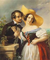 Flirtation - Miklós Barabás