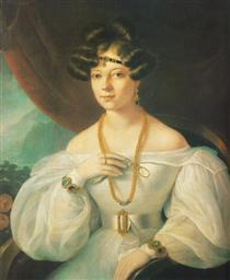Portrait of a Woman - Miklós Barabás