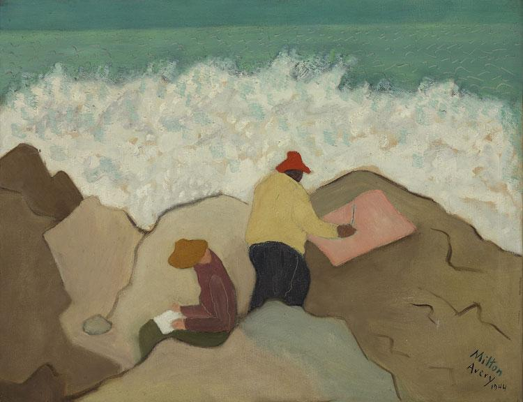 Sketching by the Sea, 1944 - Milton Avery
