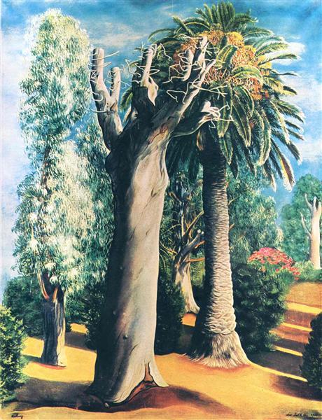 Eucalyptus and palm, 1935 - Moise Kisling