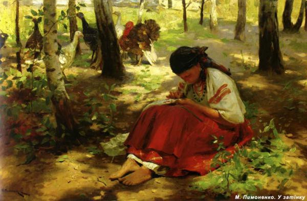At the Shadow - Mykola Pymonenko