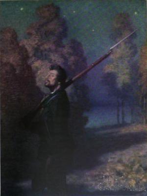 Illustration for poem The Picket Guard, 1922 - N. C. Wyeth