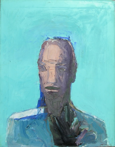 Blue Head, 1990 - Nathan Oliveira