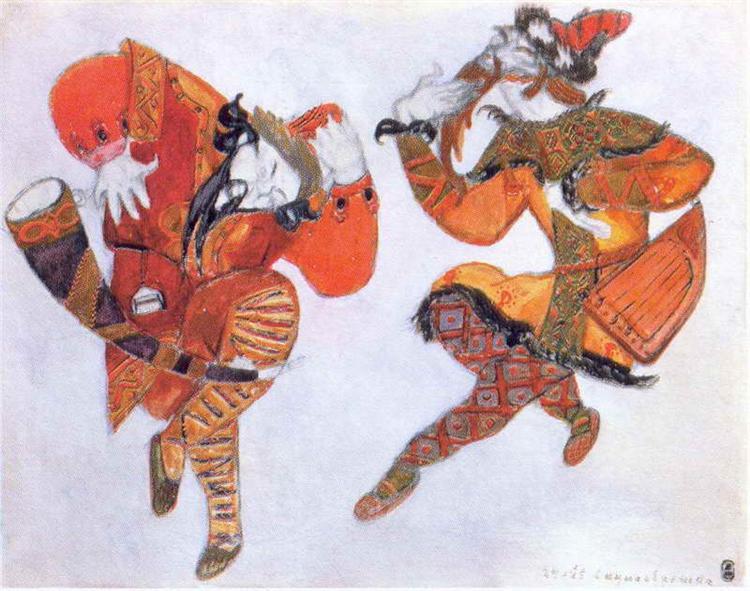 Clowns Skula and Yeroshka, 1914 - Nicholas Roerich