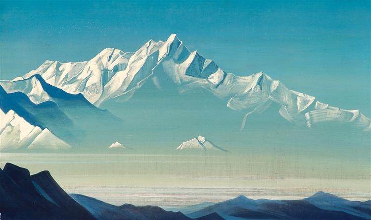 Mount of five treasures (Two worlds), 1933 - Nicholas Roerich