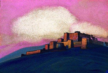 Pink sky, 1933 - Nicholas Roerich