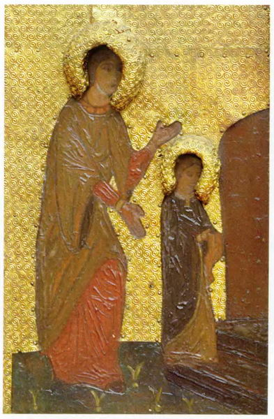 The Virgin Holidays. Introduction of the Virgin in Temple. Saint Anne and young Virgin Mary., 1907