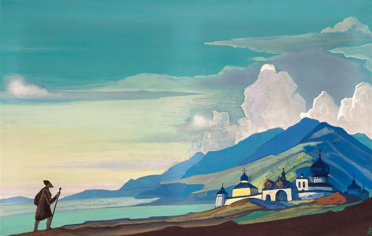 Wanderer from the Resplendent City, 1933 - Nicholas Roerich