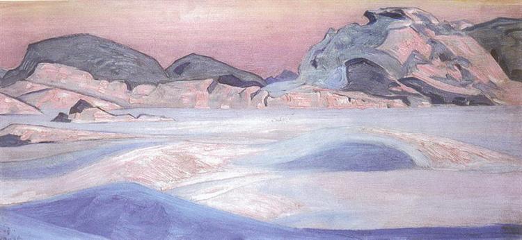 Winter landscape, 1918 - Nicholas Roerich