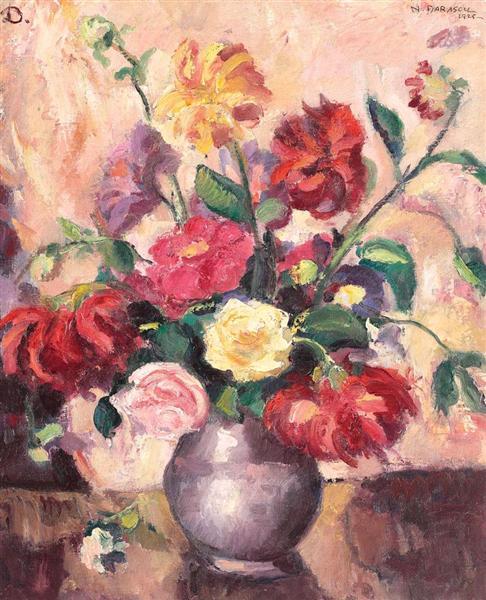 Vase with Peonies, 1925 - Nicolae Darascu