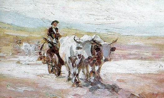 Oxcart - Nicolae Grigorescu