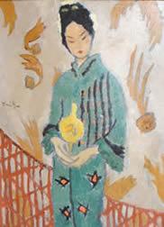 Japanese woman - Nicolae Tonitza