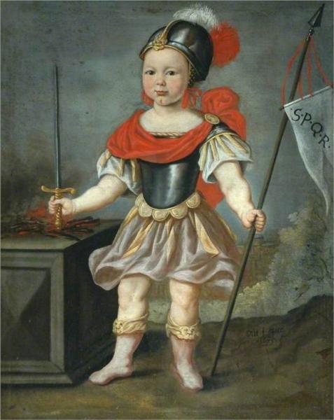 Boy in Fancy Dress as a Roman Soldier, 1675 - Николас Мас