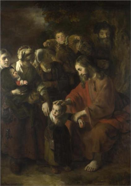 Christ Blessing the Children, 1653 - Nicolaes Maes