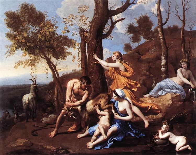 The Nurture of Jupiter, 1635 - 1637 - Nicolas Poussin