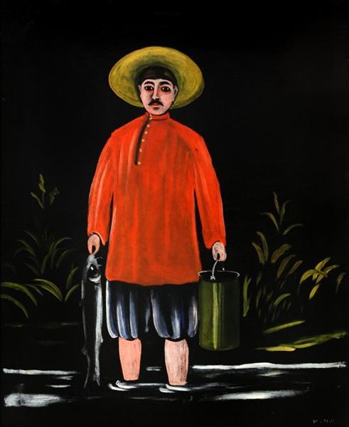 Fisherman in a Red Shirt, 1908 - Niko Pirosmani