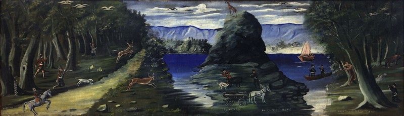 Hunting Scene with a View of the Black Sea, 1912