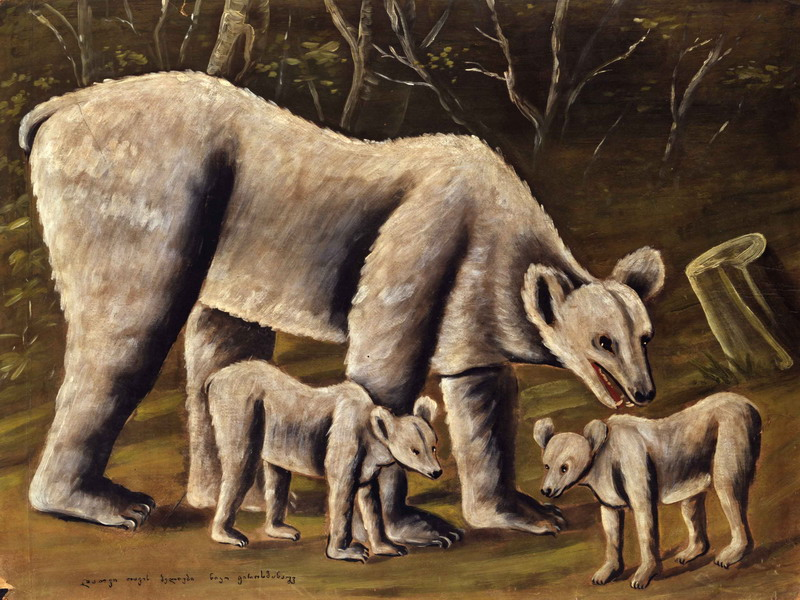 The white bear with cubs, 1910