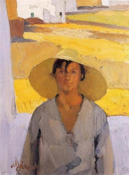 The straw hat, 1925 - Nikolaos Lytras