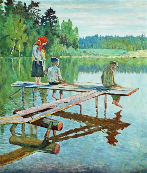 Evening (Angler), 1925 - Nikolay Bogdanov-Belsky
