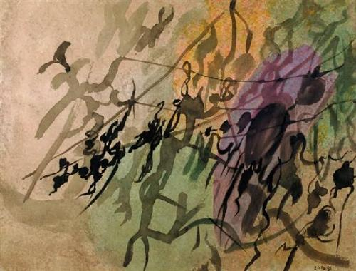 Waving Leaves II - Nikos Hadjikyriakos-Ghikas