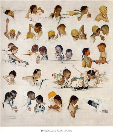 Day in the life of a little Girl - Norman Rockwell