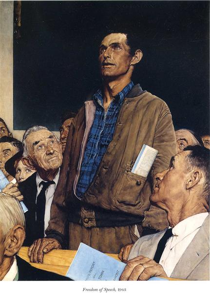 Freedom of Speech, 1943 - Norman Rockwell